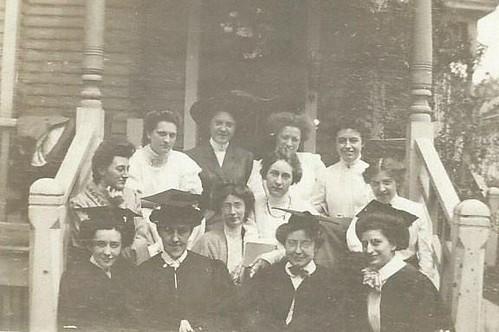University of Michigan women graduates, 1909